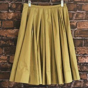 Anthropologie Odille Green Full Skirt